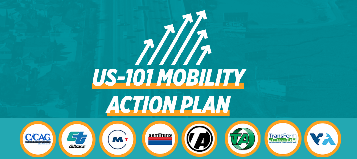 101 Mobility Action Plan logo with logos of sponsoring organizations and agencies