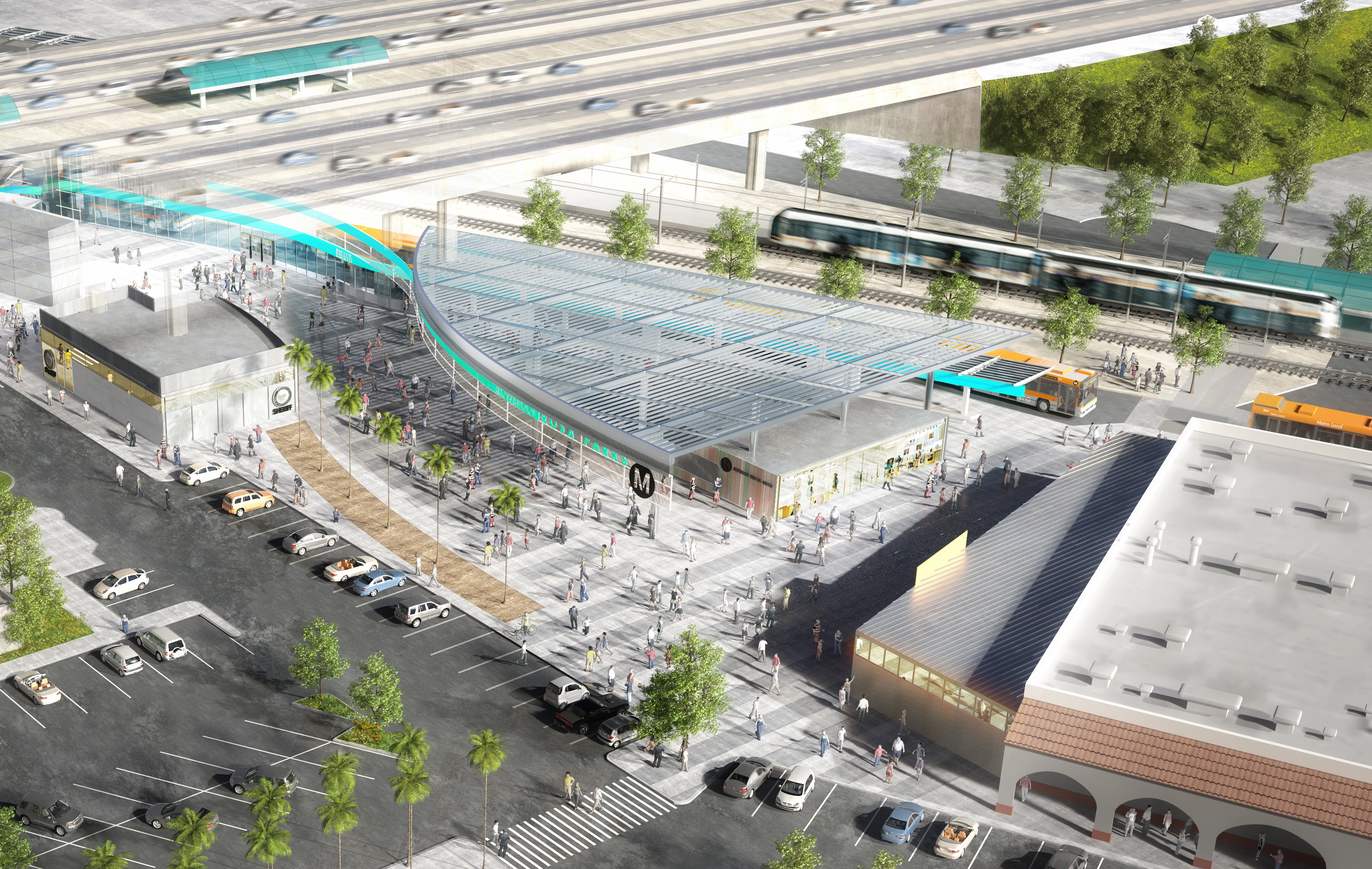 A mock-up of the new station shows a cleaner, better-lit, and more welcoming station. Photo: LA Metro