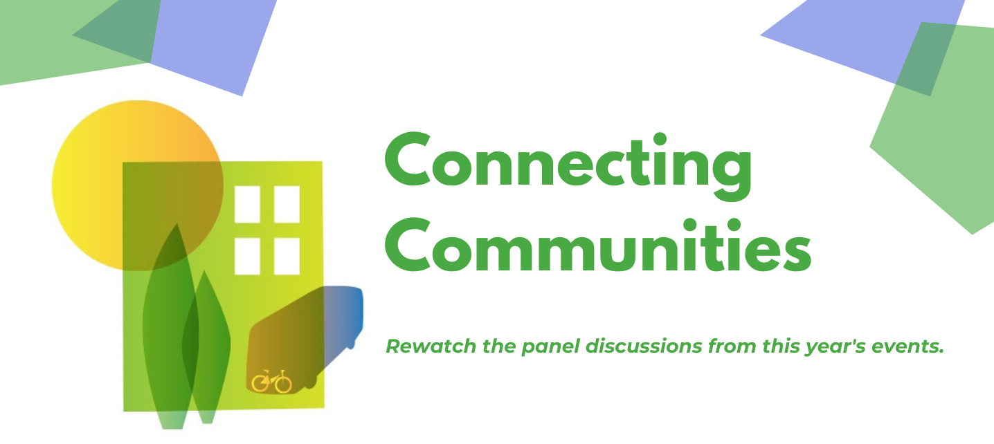 Connecting Communities Banner Image: An event series for transportation and housing solutions that advance climate protection and social equity