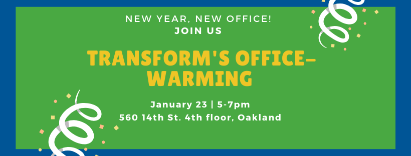 Banner image of TransForm's Office-Warming party
