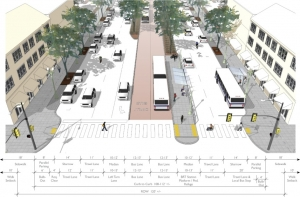 Dedicated bus lanes would allow buses to move faster than cars in traffic.