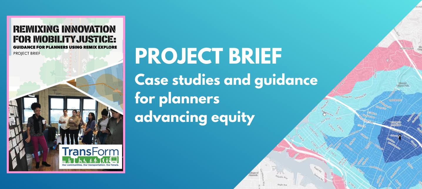 Project brief cover on the left, map/screenshot on the right. Text: Download our project brief for case studies and guidance for planners doing community engagement LINK: bit.ly/Remixing-Innovation