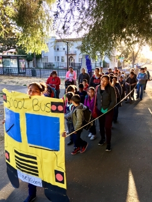 Walking School Bus at Achieve Academy in Oakland