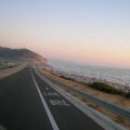 Bike lane by ocean
