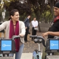 Image: Two people using bike share in San Jose. Photo: Ken Gutmaker