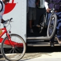 Image: people take their bikes on the train. Photo: Mike Kahn