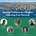 event graphic with title, speaker names and headshots. Title is Solving Problems as a Region: Learning from Housing