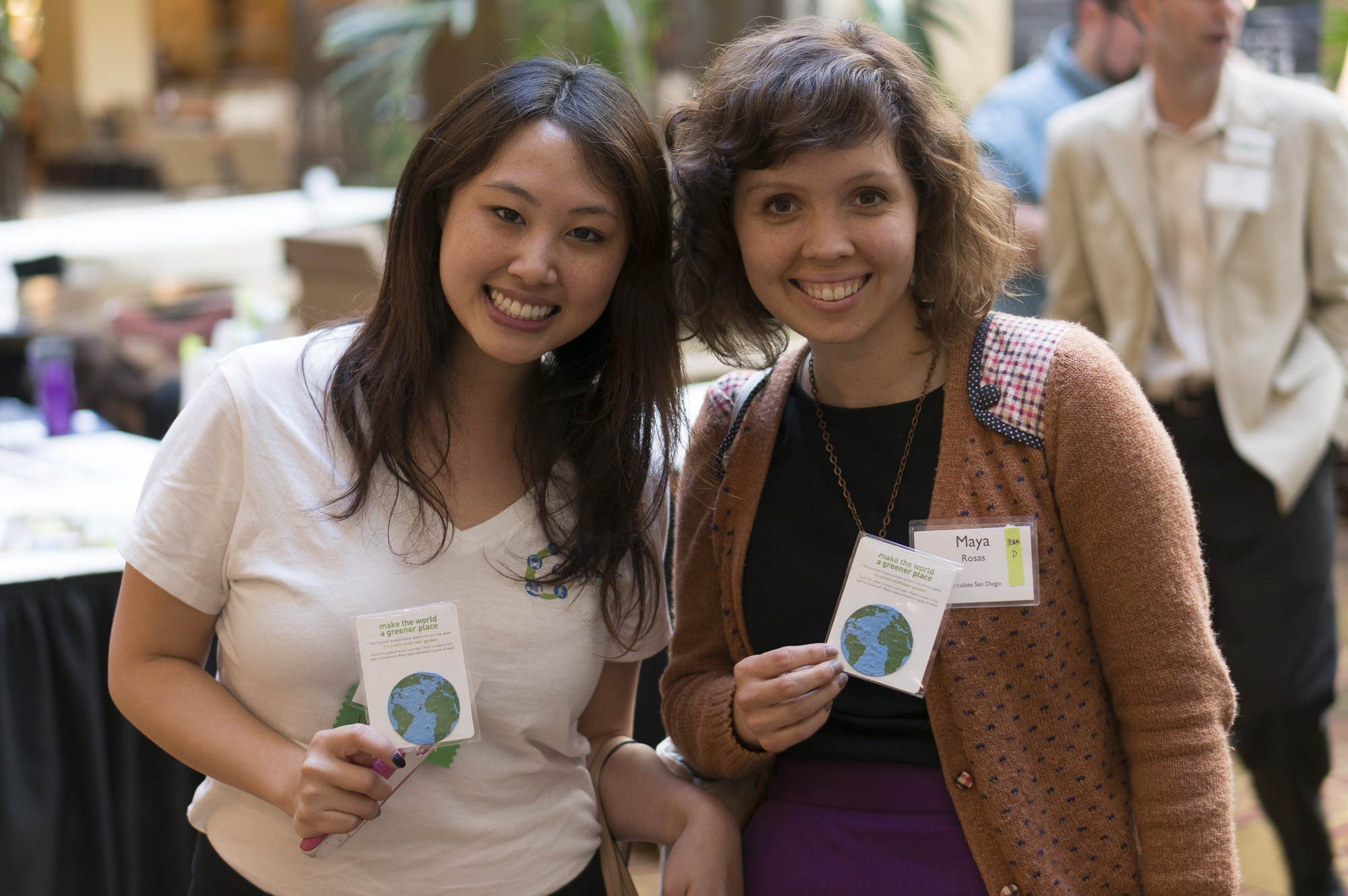 Image: 2 students attend the Transportation Equity Summit. Photo: Michael Halberstadt