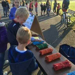 Kids choose pencil prizes at Altamont Creek Elementary School
