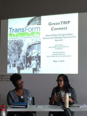 GreenTRIP Director Ann Cheng presents at the Let's Get Moving Summit