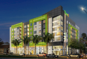 SparQ, located in the South First Area (SoFA), is San Jose's first GreenTRIP Platinum Certified development