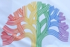 Image: Oakland tree symbol in rainbow colors. Photo: Flickr_mary